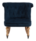 Кресло Amelie French Country Chair Синий Вельвет DG-F-ACH490-2