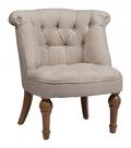 Кресло Sophie Tufted Slipper Chair Белый Лен DG-F-ACH408