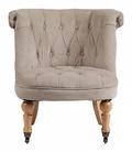 Кресло Amelie French Country Chair Серо-бежевый Вельвет DG-F-ACH490-3