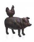 Статуэтка свинья и петух 6х21х20 QJ99-0163