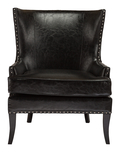 Кресло Gramercy Club Chair Черная Экокожа DG-F-ACH480