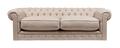 Диван The Pettite Kensington Upholstered Sofa Кремовый Лен DG-F-SF360