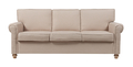Диван The Pettite Lancaster Upholstered Sofa Кремовый Лен DG-F-SF362
