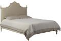 Кровать двуспальная бежевого цвета с эффектом старения