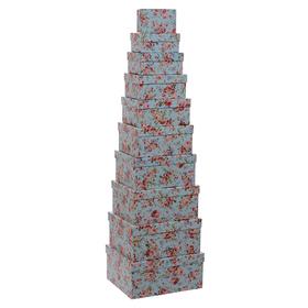 Набор коробок светло-голубой ( из 10 шт.) 21593-1