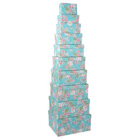 Набор коробок бирюзовый ( из 10 шт.) 21593-2