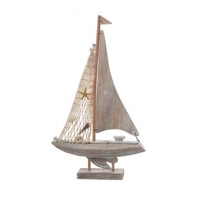 Лодка декоративная с ракушками (от 2шт.) MA04026A