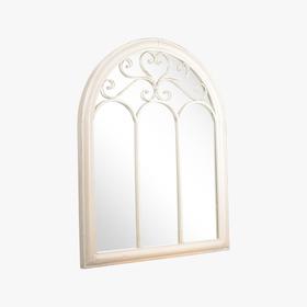 Зеркало - окно металлическое - Белый Ажур PL08-34550