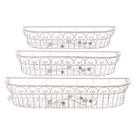Подставка для цветов Белый ажур (3шт) PL08-4861