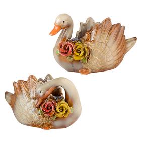 Корзинки для сладостей Лебеди в розах L (пара)