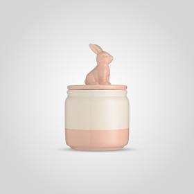Банка для сыпучих Розовый кролик L