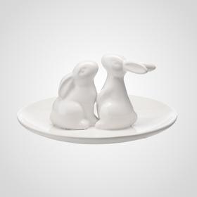 Конфетница влюбленные Кролики