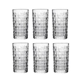 Набор стаканов для воды Плетеный узор (цена за набор)