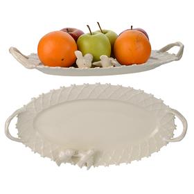 Блюдо овальное фарфоровое Крем де ла крем