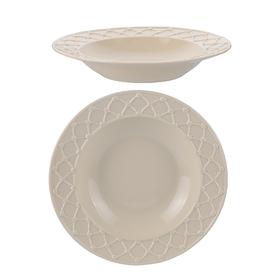 Тарелка фарфоровая для супа Крем де ла крем
