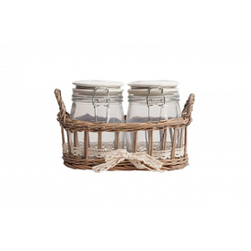 Набор для хранения в плетеной корзинке Bunuelo