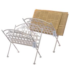 Газетница металлическая Белый ажур PL08-5645