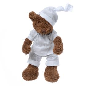 Медвежонок коричневый мальчик в белой пижаме 27см FT1327045
