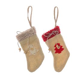Новогодняя подвеска носочки( от 6 шт.) 15C-649A2.G2