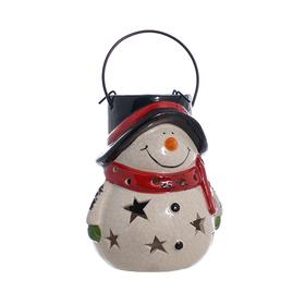 Подсвечник Ночной снеговик DL1038