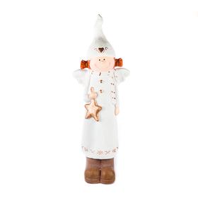Ангел новогодний со звездой 21х15х62см DSP25595