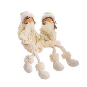 Мягкая новогодняя игрушка мальчик с девочкой YJ20142311-L