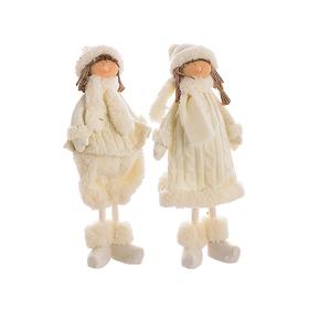 Мягкая новогодняя игрушка мальчик с девочкой (40см) YJ20142317-L