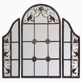 Настенное зеркало «Сильвестра» (черный антик) 5386