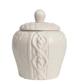 Декоративная ваза с крышкой Lindley для хранения продуктов Большая Серая DG-D-1258-2