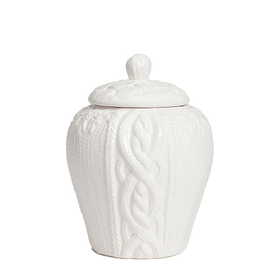 Декоративная ваза с крышкой Lindley для хранения продуктов Маленькая Белая DG-D-1259-1