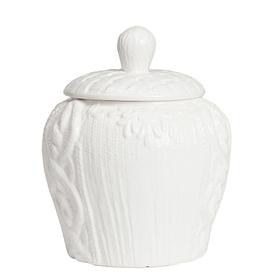 Декоративная ваза с крышкой Lindley для хранения продуктов Большая Белая DG-D-1259-2
