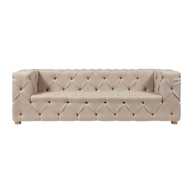 Диван Soho Tufted Upholstered Sofa Кремовый Лен DG-F-SF361