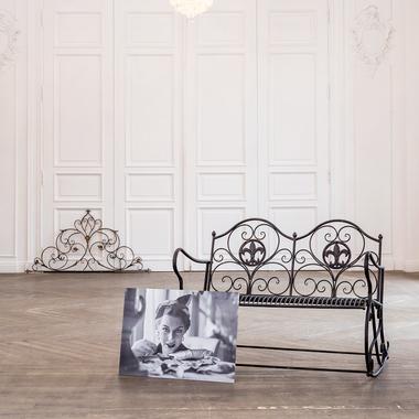 Металлическая скамья-качалка «Англетер» (черный антик) 5670