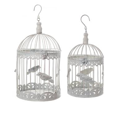 Декоративные клетки с птичкой Белый ажур YW1488