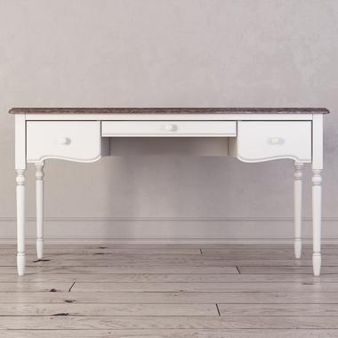 Письменный стол с 3-я ящиками Leblanc, белый