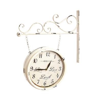 Часы на кронштейне белые 3282-1