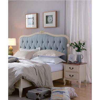 Кровать двуспальная с мягким изголовьем GW111L