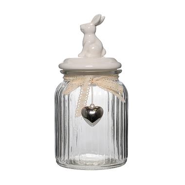 Банка для сыпучих Белый кролик L