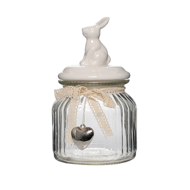 Банка для сыпучих Белый кролик M