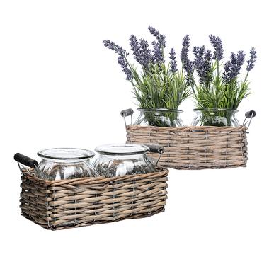 Набор ваз в плетеной корзинке