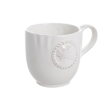 Чашка керамическая белая 14х11см T02329-1