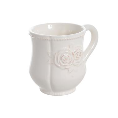 Чашка керамическая белая 6 шт 12х9х10см T18605-1