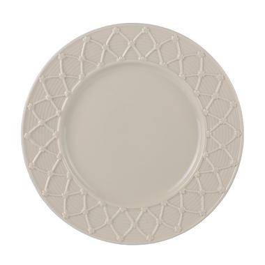 Тарелка фарфоровая бежевая Крем де ла крем