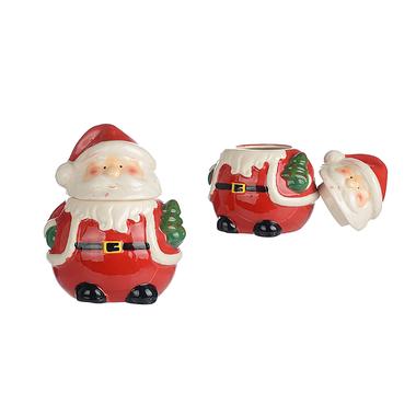 Керамическая Декоративная Банка Дед Мороз