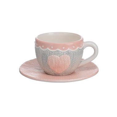 Фарфоровая Чашка с Блюдцем Изящный Бант