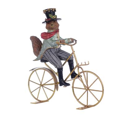 Декор Лис на велосипеде