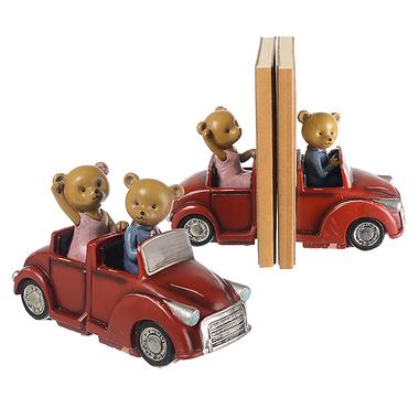 Книгодержатель Семья мишек декор на кабриолете