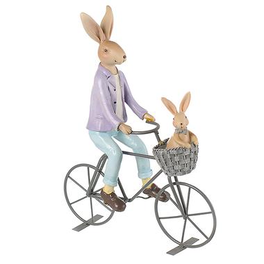 Семья кроликов декор на велосипеде