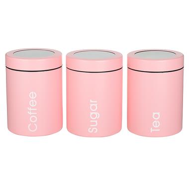 Набор Банок для Сыпучих Розовый
