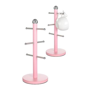Металлическая Подставка для Чашек Светло-Розовая